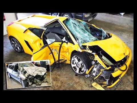 carros exoticos chocados