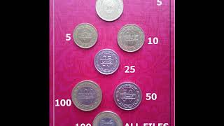 Bahrain Country Fils Coin 5,10,25,50,100 Fils
