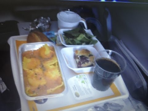 Inside Lufthansa Airbus A 380, Economy Class,Food & Beverages,Inflight Entertainment,2014