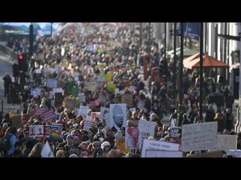 Donald Trump protests held across Europe