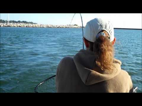Salmon Fishing on Lake Michigan. Sheboygan Wisconsin September 8, 2011