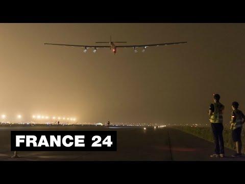 Pacific storms ground solar plane Solar Impulse 2 on round-the-world trip