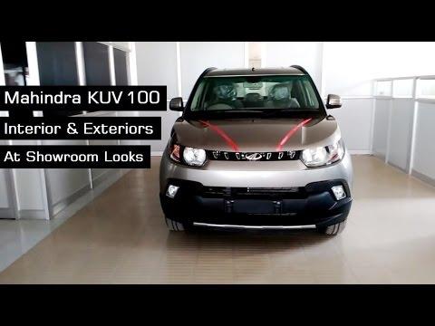 Mahindra KUV100 Top End Model Interior & Exterior Red | Grey Colours At Showroom | 2016 | India