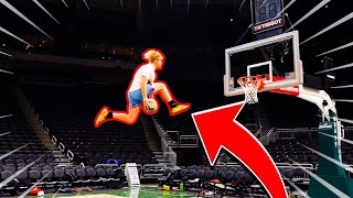 "Mega Trampoline Game Of ""D.U.N.K"" At NBA Arena!"