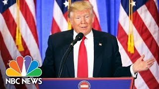 Donald Trump's First Press Conference as President-Elect: Top Moments | NBC News