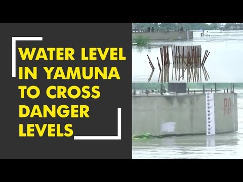 Yamuna river flowing on danger levels in Delhi