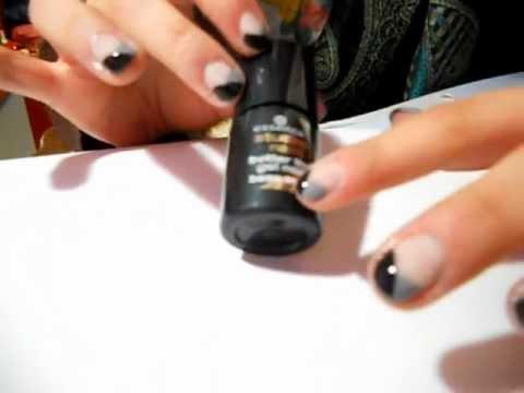 Nail art tutorial semplice e veloce per unghie corte! - YouTube