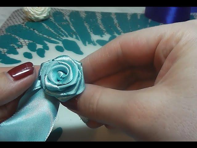 Как сделать розу из ленты шириной 1 см
