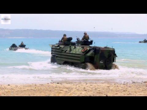 Japan Self-Defense Force & U.S. Marines - Assault Amphibious Vehicle Surf Qualification