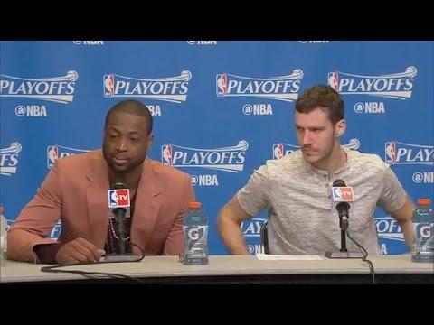 Dwyane Wade, Goran Dragic - Miami Heat vs. Toronto Raptors Game 6 postgame 5/13/16
