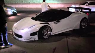 Crazy loud Ferrari 458 GT3 with GT3RS and 918 Spyder!!