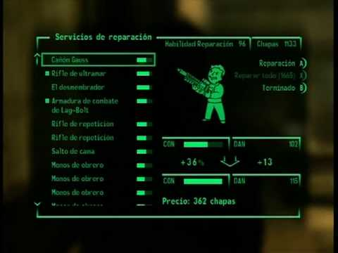 Fallout 3 - 100% repair by a NPC (Point Lookout DLC required)