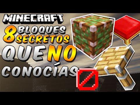Minecraft: 8 Bloques Secretos que NO Conocías - Rabahrex