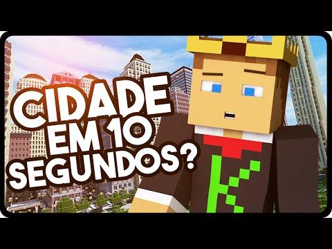 Minecraft: COMO CRIAR UMA CIDADE EM 10 SEGUNDOS????