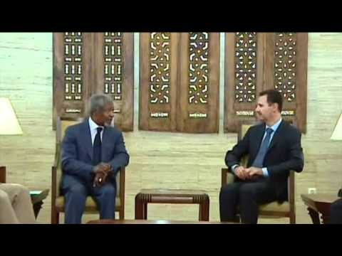 Kofi Annan tries to save Syria peace plan