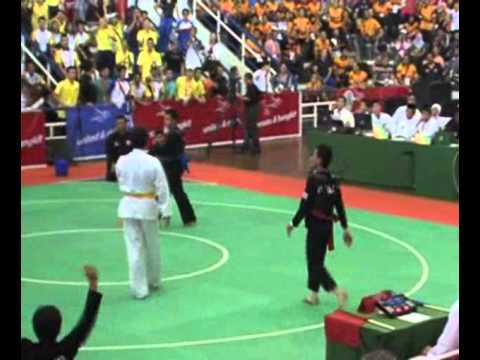 Pencak Silat match at Indonesia [Indonesia vs Thailand] 26th SEA Games 2011 Image 1