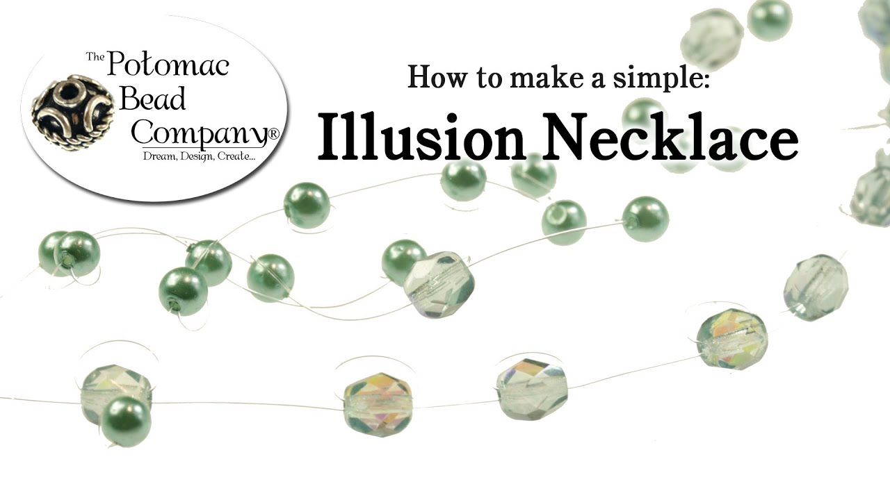 how to make fast simple illusion necklace youtube. Black Bedroom Furniture Sets. Home Design Ideas