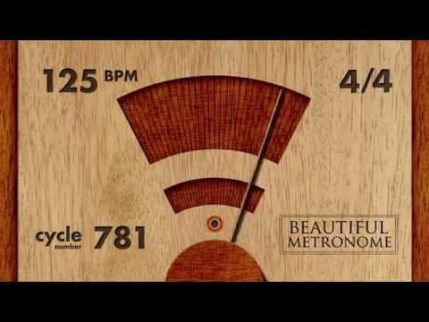 125 BPM 4/4 Wood Metronome HD