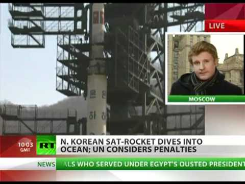 North Korean Rocket PT1 Launched and shot down by invisible infared Laser. Go USA alien Technology