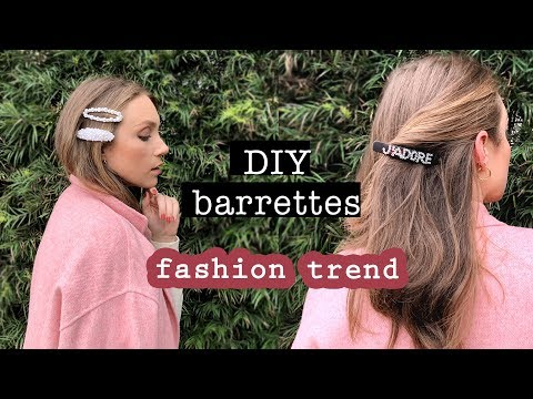 TREND: DIY HAIR BARRETTES (easy & chic) // Hair Accessories Tutorial - YouTube