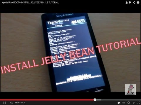 Xperia Play ROOT+ INSTALL JELLYBEAN 4.1.2 TUTORIAL