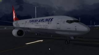 P3D Ankara LTAC Motor Çalıştırma - Taxi - Kalkış PMDG 737-800 Turkish Airlines
