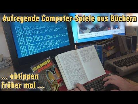 Aufregende Computerspiele aus Büchern ... beschwerliches Abtippen ... früher mal
