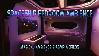 Spaceship Bedroom Ambience 8 Hour Animated Video | ASMR Starship | Delta Waves, Engine White Noise