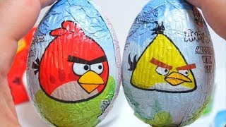 Angry Birds Surprise Eggs Unboxing
