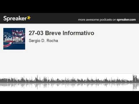 27-03 Breve Informativo (hecho con Spreaker)