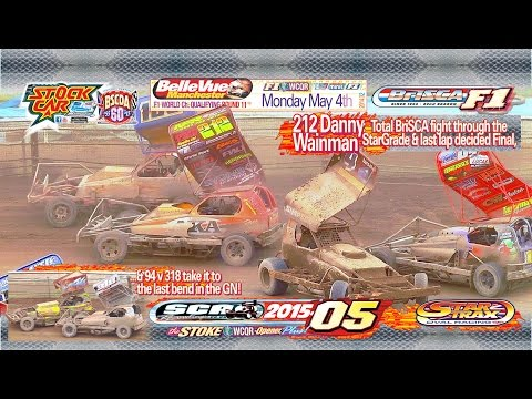 BriSCA F1 StockCars Belle Vue Manchester, May 4 2015 World Championship Qualifying Round Final