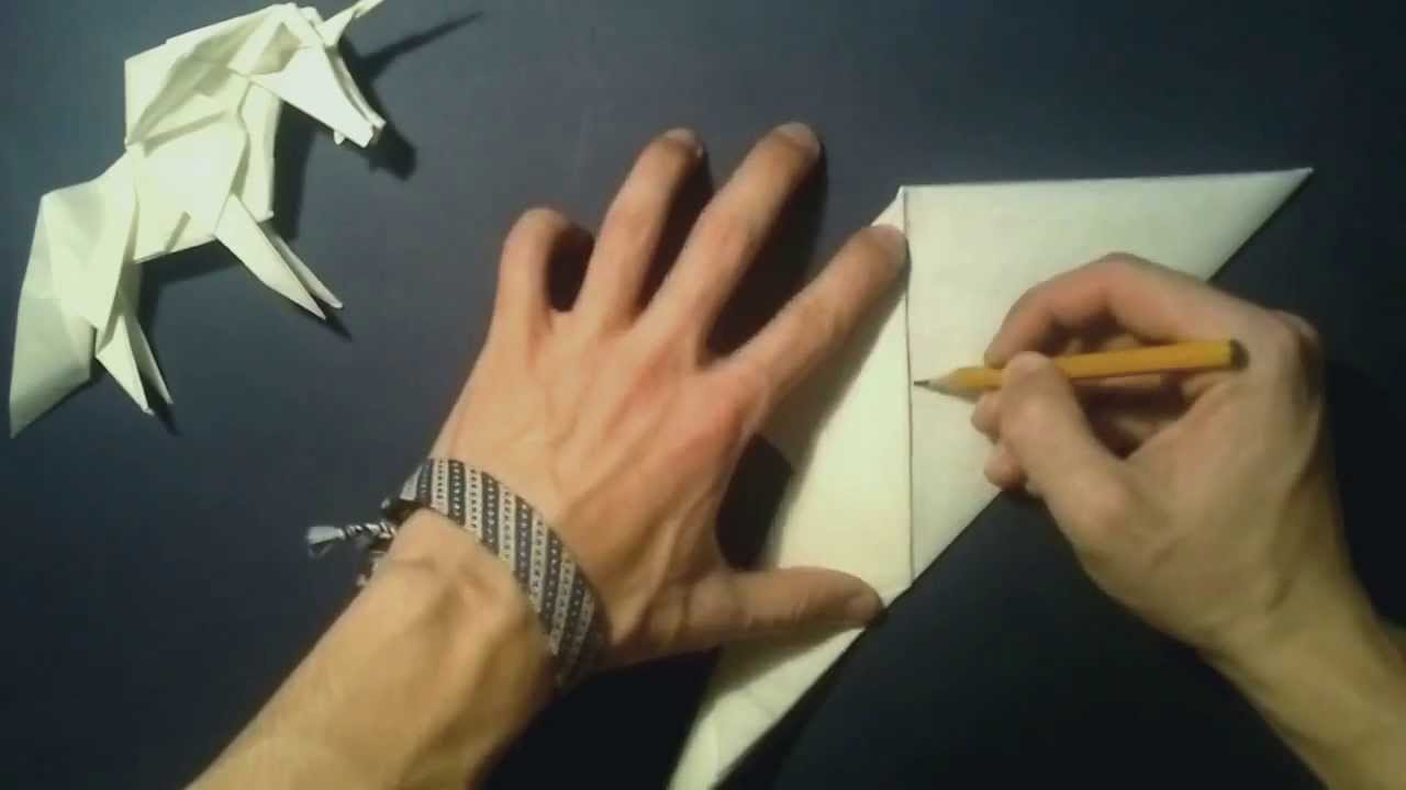 Оригами единорога видео