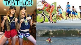 We Survived The Malibu Triathlon! VLOG - Nina and Randa