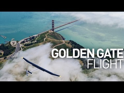 California: Solar Impulse 1 Flight Over The Golden Gate Bridge