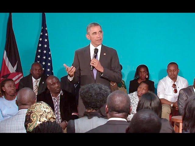 The President talks with Members of Civil Society in Kenya