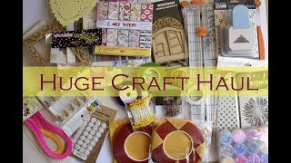 Huge Craft Haul/ Craft Supplies/ My Crafty Collection