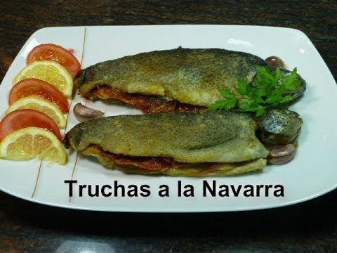 Truchas a la Navarra (Receta fácil)