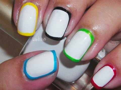Nail Art - Border Nails - Decoracion de uñas