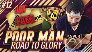 90 FREE PLAYER PACKS!! ANOTHER FUT DRAFT WIN!! - Poor Man RTG #12 - FIFA 18 Ultimate Team