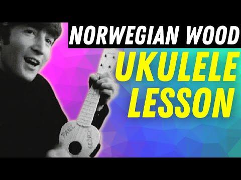"Easy Ukulele Chord Solo Lesson: ""Norwegian Wood""|| Stuart Fuchs"