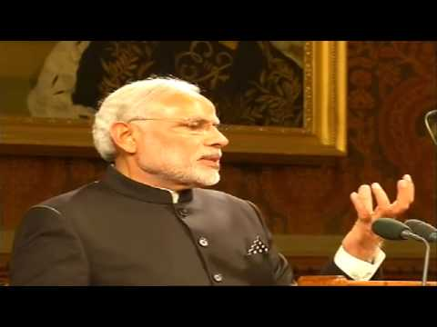 PM Modi addresses the British parliament in London, UK - 12.11.2015