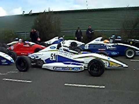 Action from Knockhill Race Track Scotland - Formula Ford Race 1, Featuring Josh Hill son of F1 world Champion Damon Hill Starting in 3rd place on the grid.