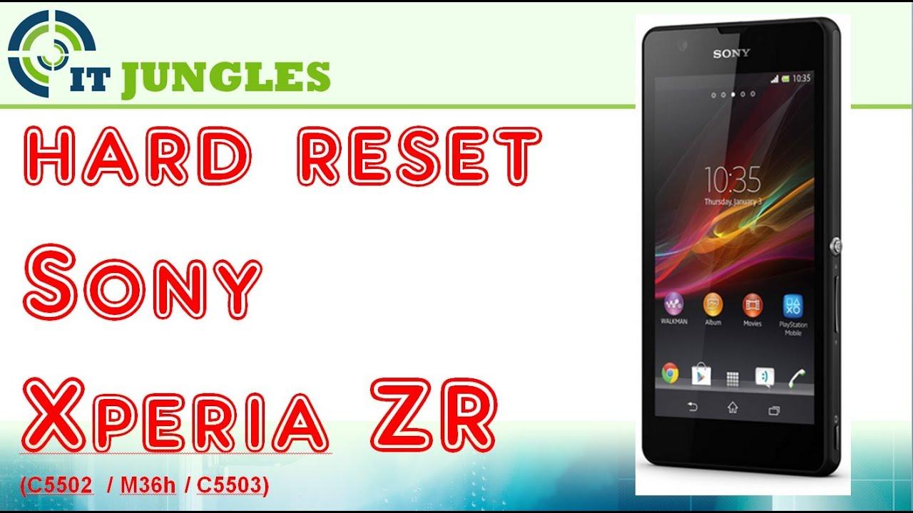 Hard Reset Sony Xperia ZR - YouTube