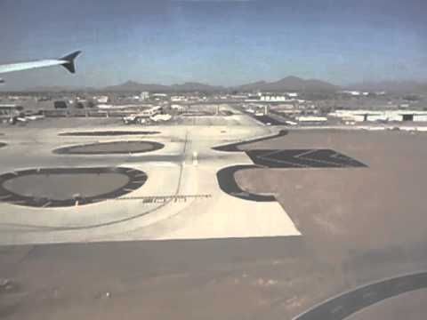Landing at PHX - Phoenix Sky Harbor International Airport - Airbus A320