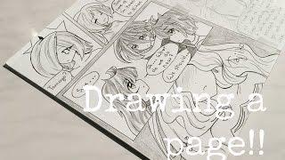 Drawing a page of my manga! //Magica?Shoujo//
