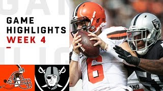 Browns vs. Raiders Week 4 Highlights | NFL 2018