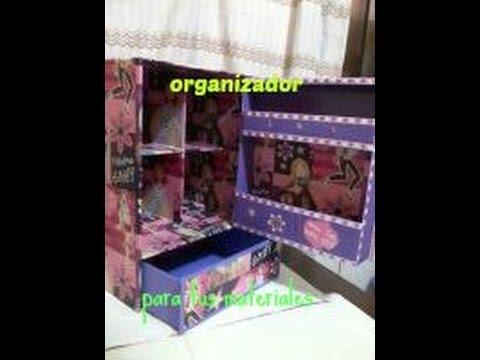 organiza tus materiales