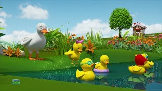 Five Littel Ducks | Baby Ducks Song | Nursery Rhymes | Kids Songs