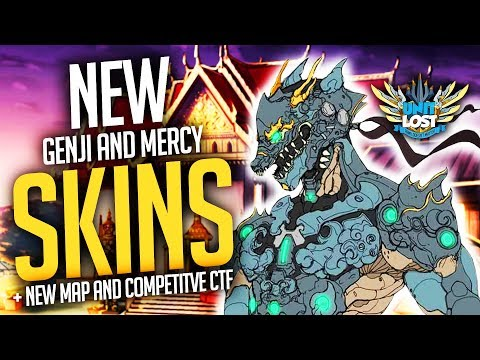 Overwatch - Genji and Mercy Legendary Skins! / NEW Thailand Map / Competitive Capture the Flag!