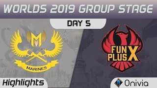 GAM vs FPX Highlights Worlds 2019 Main Event Group Stage GAM Esports vs FunPlus Phoenix by Onivia